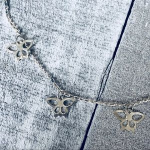Jewelry - Sterling Silver Dainty Butterfly Anklet Chain